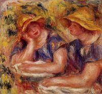 Две женщины в синих блузках