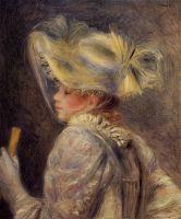 Женщина в белой шляпе