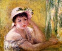 Женщина с соломенной шляпе