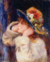 Девочка в шляпе,украшенной полевыми цветами