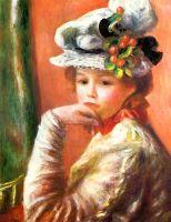 Девочка в белой шляпе (также известная как Девочка, опирающаяся на руку)
