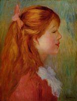 Профиль девочки с длинными волосами