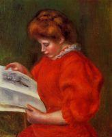 Девушка, смотрящая на рисунок