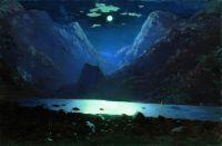 Дарьяльское ущелье. Лунная ночь.