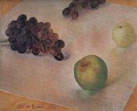 Натюрморт. Виноград и яблоки.