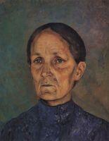Портрет А.П.Петровой-Водкиной, матери художника.
