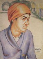 Портрет М.Ф.Петровой-Водкиной.