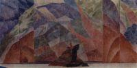 Эскиз декорации пролога к инсценировке Дневник Сатаны (по Л.Андрееву).