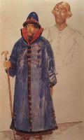 Эскиз костюма и грима к трагедии А.С.Пушкина Борис Годунов.