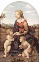 Мадонна с младенцем и Иоанном Крестителем в пейзаже (прекрасная садовница)