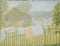 Белье на заборе