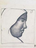 Женская голова в профиль