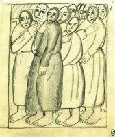 Крестьянки в церкви