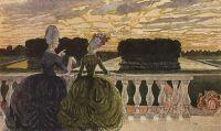 Две дамы на террасе