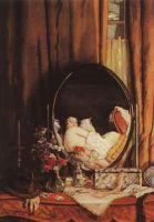 Интимные отражения в зеркале на туалетном столике