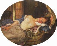 Спящая молодая женщина