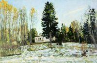 Старая усадьба зимой
