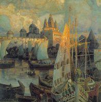 Варяжские корабли в Великом Новгороде.