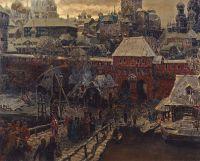 Москва середины XVII столетия. Москворецкий мост и Водяные ворота.