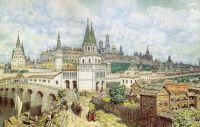Расцвет Кремля. Всехсвятский мост и Кремль в конце XVII века.