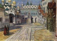 Царская площадка и Красное крыльцо Грановитой палаты в Кремле.