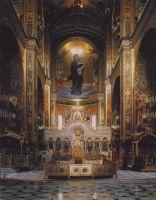 Вид на алтарь. Интерьер Владимирского собора в Киеве