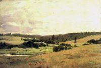 Долина речки Вори у деревни Мутовка, пейзаж с детьми.
