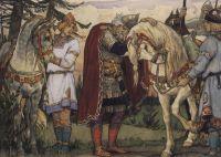 Прощание Олега с конем.