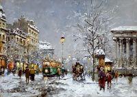 Площадь Мадлен зимой