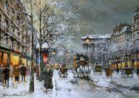 Бульвар Мадлен с снегу