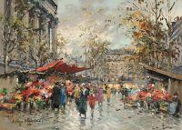 Цветочный рынок на Мадлен