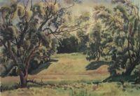 Лесной пейзаж в окрестностях Тарусы