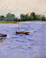 Закрепленная лодка на Сене