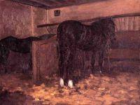 Лошади в конюшне