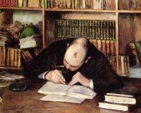 Портрет мужчины, пишущего в свой дневник