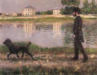 Ричард Галло и его собака в Петит Женневилиер