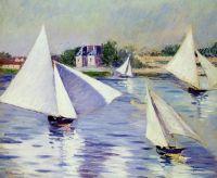 Яхты на Сене в Аржантей