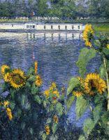 Подсолнухи на берегу Сены