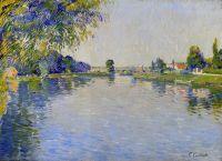 Вид на Сену в направлении моста Безон