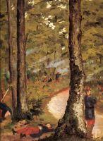 Йеррес, солдаты в лесу