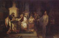 Апостол Павел объясняет догматы веры в присутствии царя Агриппы, сестры его Береники и проконсула Феста