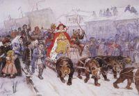 Большой маскарад в 1772 году на улицах Москвы с участием Петра I и князя-кесаря И.Ф.Ромодановского