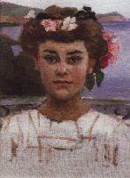 Головка девушки. Портрет З.С.Хаминовой
