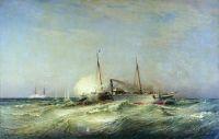 Бой парохода Веста с турецким броненосцем Фетхи-Бутленд в Черном море 11 июля 1877 года