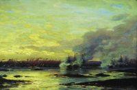 Гангутский бой (Второй момент сражения русского галерного флота с корабельным шведским флотом в 1714 году у мыса Гангут)