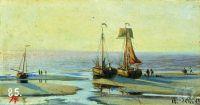 Голландия. Отлив в Схевенингене