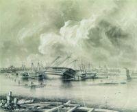 Кронштадт после наводнения 7 ноября 1824 года