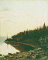 Лесистый берег. Около 1850