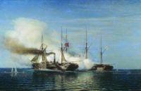 Морской бой. Пленение фрегатом Владимиром турецкого парохода Перваз-Бахри
