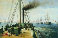 Смотр Балтийского флота Николаем I на пароходе Невка в 1848 году